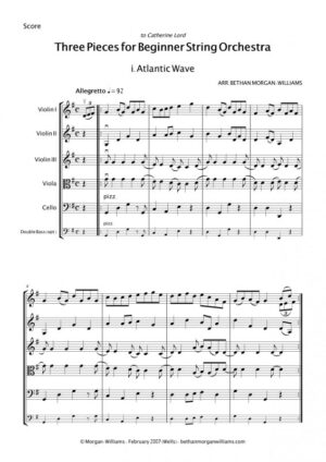 arr. Three Pieces for Beginner String Orchestra